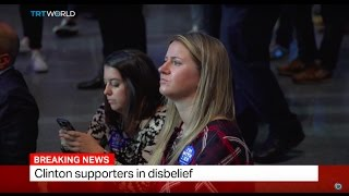 Download Clinton supporters in disbelief Video