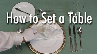 Download Learn How to Set a Formal Dinner Table Video