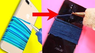 Download Trying 23 BRILLIANT PHONE HACKS By 5 Minute Crafts Video