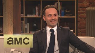 Download Andrew Lincoln on His Throat Stunt: Episode 416: Talking Dead Video