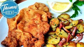 Download Wiener Schnitzel mit Bratkartoffeln | so wird es richtig gut! Video