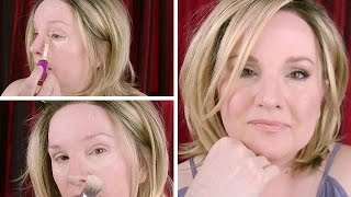 Download Esthetician Demonstrates BAKING for MATURE EYES / How to Conceal & Smooth Under Eyes Video