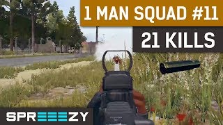 Download PUBG 1 Man Squad Game #11 | 21 Kills | Blue Zone Too Stronk Video
