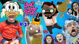Download DUCKTALES Treasure vs. GANG BEASTS! FGTEEV DR. HELLO NEIGHBOR & Granny Family Royale (#3) Skit Video