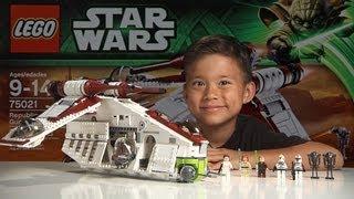 Download REPUBLIC GUNSHIP 2013 - LEGO Star Wars Set 75021 Time-lapse, Stop Motion, Unboxing & Review Video