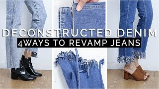 Download How To: Deconstructed Denim || 4 SIMPLE Ways to Revamp Old Jeans Video