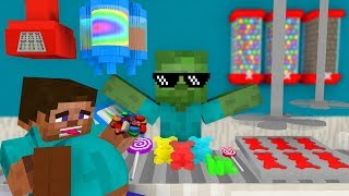Download Monster School: WORK AT CANDY FACTORY PLACE! - Minecraft Animation Video