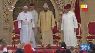 Download Cérémonie de bienvenue du pape François au Maroc Video