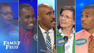 Download TOP 5 funniest and CRAZIEST folks Steve met! | Family Feud Video