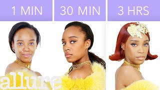 Download Getting Rihanna's Look in 1 Minute, 30 Minutes, and 3 Hours - Makeup Challenge   Allure Video