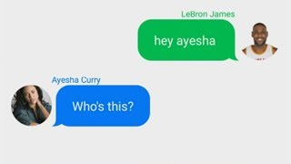 Download LeBron James Texting Ayesha Curry (Stephen Curry's Wife) Video