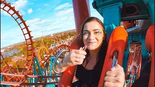 Download Doing my Makeup on a Rollercoaster! Extreme Makeup Challenge Video
