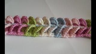 Download diadema a crochet en punto mariposa 3D tejido con Ganchillo - crochet headband in butterfly point Video