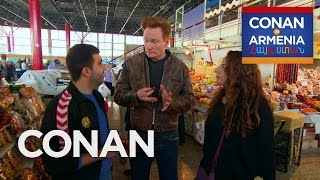 Download Conan & Sona Visit An Armenian Marketplace - CONAN on TBS Video