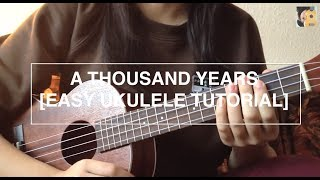 Download A thousand years - Christina Perri (EASY Ukulele Tutorial - no capo) Video