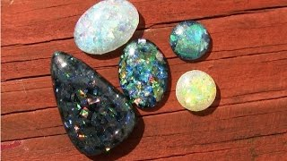 Download Faux Opal Resin Cabochons DIY Tutorial Demo (ArtResin) Video