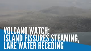 Download Taal Volcano watch: Island fissures steaming, lake water receding Video