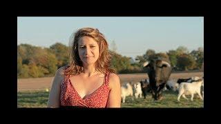 Download Une femme décide de rentrer dans un champs avec un taureau de corrida Video