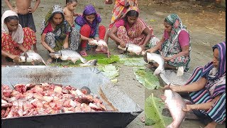 Download Big Fish Cooking | 33 KG, 11 Pieces Pangasius Fish Prepared To Feed Kids & Villagers Video