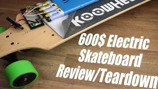 Download 600$ Electric Skateboard (Koowheel) Review/Teardown Video