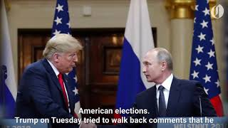 Download Trump claims Russia isn't still targeting U.S. elections Video