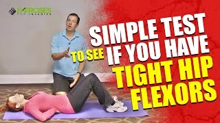 Download Simple Test To See If You Have Tight Hip Flexors Video