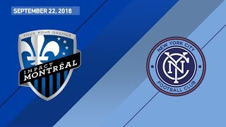 Download HIGHLIGHTS: Montreal Impact vs. New York City FC | September 22, 2018 Video