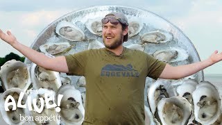 Download Brad Explores an Oyster Farm | It's Alive | Bon Appétit Video