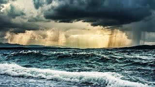 Download Rain & Ocean Waves Storm Sounds for Sleeping or Studying | White Noise Nature 10 Hours Video