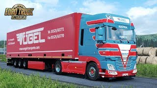 Download ✅ ETS2 1.30 - DAF XF Euro 6 Voegel Skin Blue and Red Video