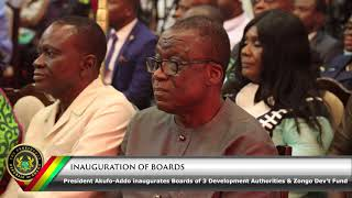 Download Inauguration of Development Authorities & Zongo Dev't Fund Video