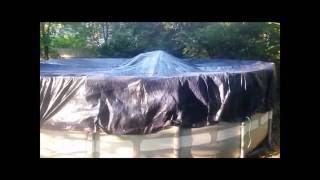 Download How to inexpensively Winterize an Intex above ground pool. Intex presentation. Professional how to. Video