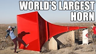 Download World's Largest Horn Shatters Glass Video