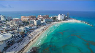 Download Cancun by Drone - Entire hotel zone aerial in 2K Video