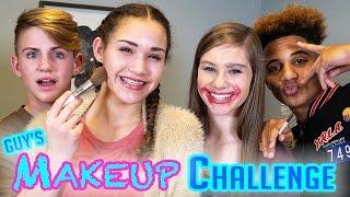 Download GUYS Makeup Challenge! MattyBRaps vs Justin ft Gracie & CeCe Video