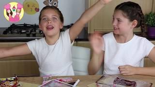 Download GIANT GUMMY JOKER TONGUE Charli's crafty kitchen - gummy vs real April fools food taste test Video