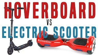 Download HOVERBOARD VS ELECTRIC SCOOTER BATTLE Video