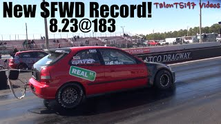 Download New SFWD Record! 8.23@183 KKT Racing Real ST Civic Video