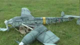Download Messerschmitt BF-110 r/c crash Video