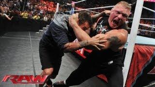 Download Brock Lesnar attacks CM Punk: Raw, July 15, 2013 Video