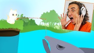 Download CATCHING THE BIGGEST SHARK IN THE GAME! (Cat Goes Fishing) Video
