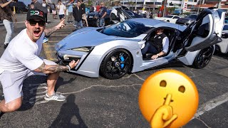 Download SNEAKING INTO A SUPERCAR RALLY! FEAT. LYKAN HYPERSPORT & FENYR Video