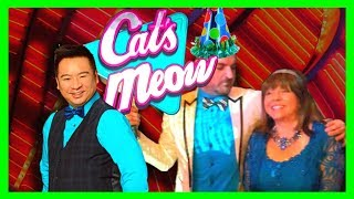 Download Upto $10/Spin! HIGH LIMIT Cat's Meow Slot Machine Bonuses With EvoniDiana, Rex & SDGuy1234 Video