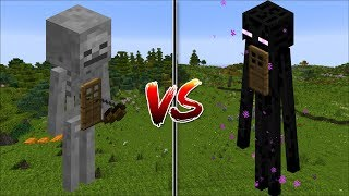 Download Minecraft SKELETON HOUSE VS ENDERMAN HOUSE / MAKE MOB HOUSES YOUR HOME !! Minecraft Video