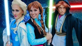 Download Jedi Princesses - FROZEN STAR WARS- Jedi Elsa & Anna vs Darth Hans Video