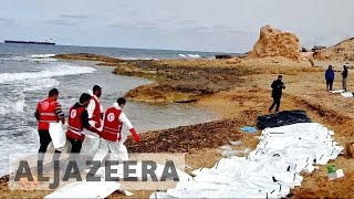 Download Libya: 74 dead refugees wash ashore in Zawiya Video