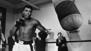 Download boxing legends hitting heavy bag Video