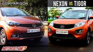Download Tata Nexon vs Tata Tigor Comparison | Hindi | MotorOctane Video