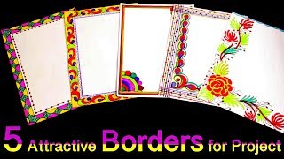 Download How to decorate borders of project files    5 Attractive borders for project    My Creative Hub Video