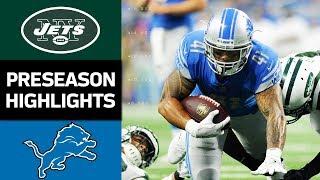 Download Jets vs. Lions | NFL Preseason Week 2 Game Highlights Video